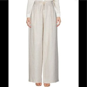100% linen Wide leg high waisted trousers pants